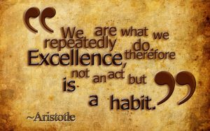 We are what we repeatedly do therefore excellence is not an act but a habit to create abundance