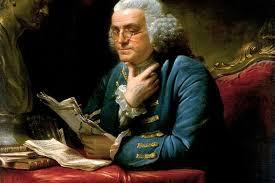 Benjamin Franklin bringing about awareness through his 13 virtues
