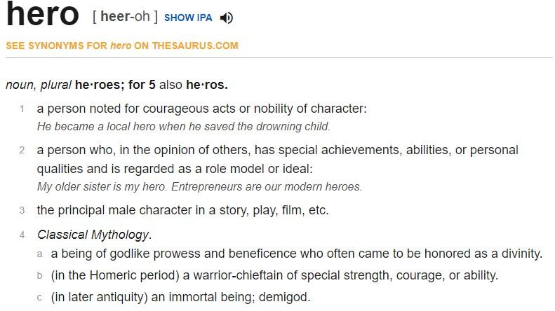 Definition of Hero