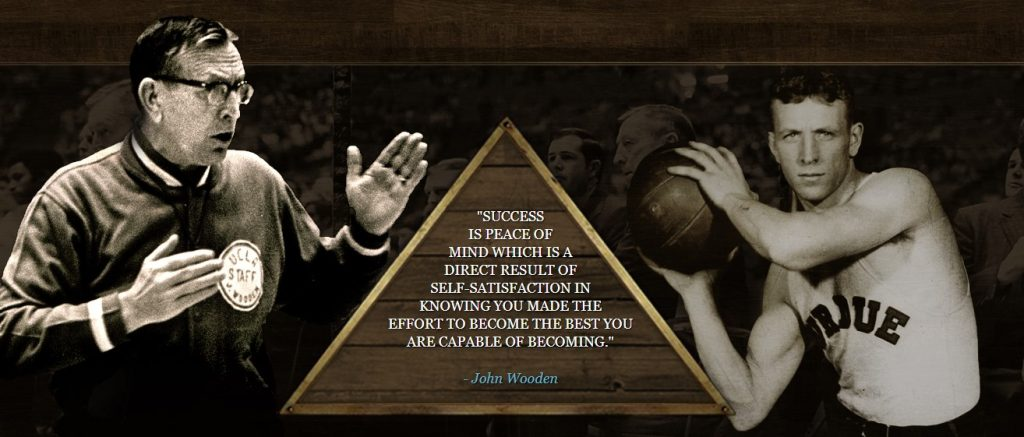 Success is peace of mind - John Wooden