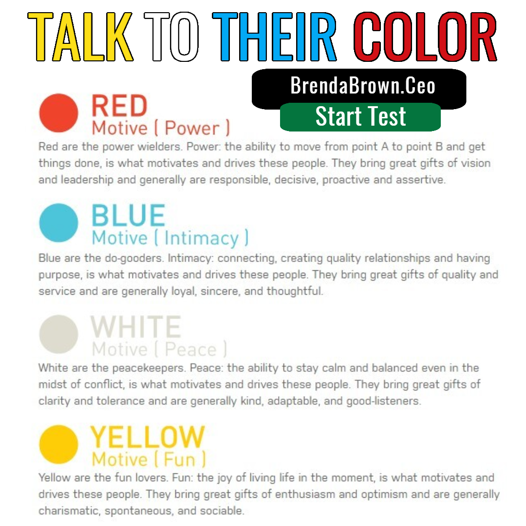 Talk to their color, color code